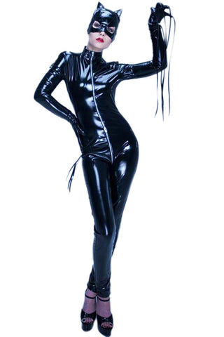ATOMIC BLACK FULL CATSUIT COSTUME
