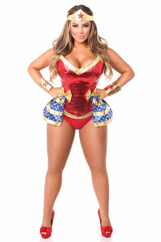 TOP DRAWER PREMIUM SUPERHERO CORSET COSTUME