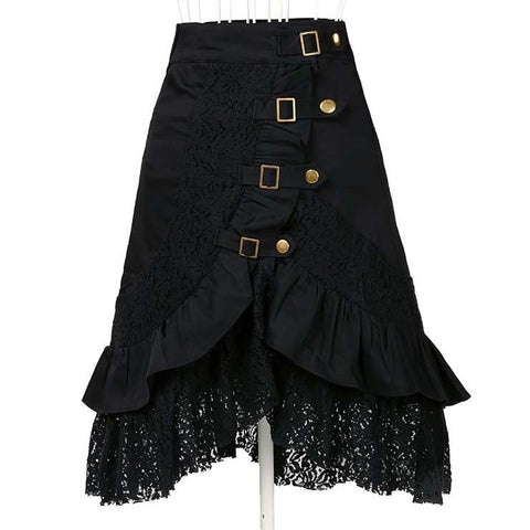 ATOMIC STEAMPUNK BLACK GYPSY LACE SKIRT