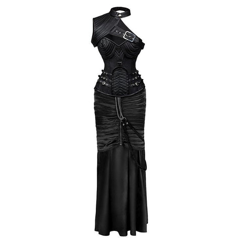 ATOMIC STEAMPUNK GOTHIC CORSET SKIRT SET