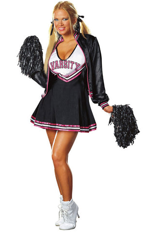 Black Varsity Cheerleader Costume