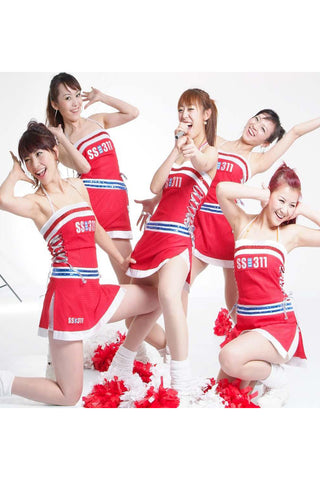 Red Cheerleader Costume