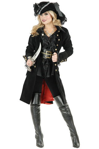 6 Piece Black Pirate Vixen Costume