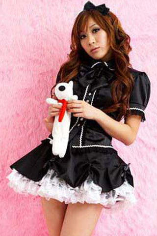 Black and White Lolita Costume