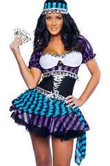 Black and Purple Gypsy Costume