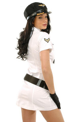 White Captain Jane Pilot Costume
