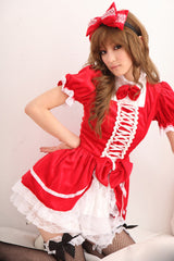 Red Lolita Secretary Costume