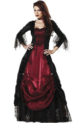 Black and Red Gothic Vampire Costume