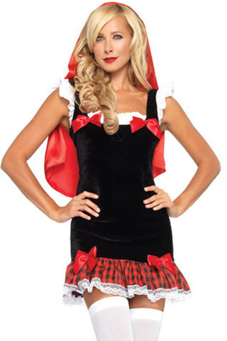 Seductive Little Red Riding Hood Inspired Costume