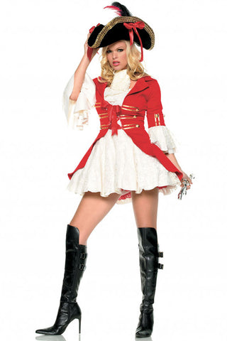 Red and White Pearl Pirate Costume