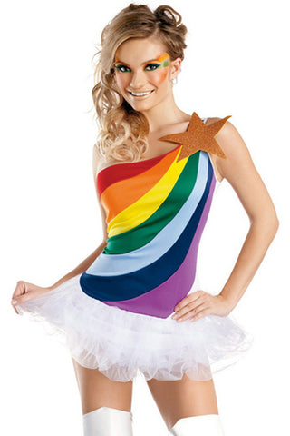 Racy Rainbow Costume