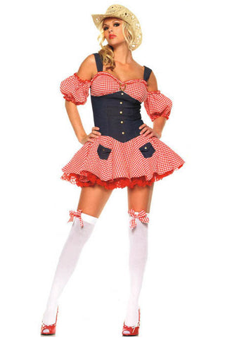 Red Checkered Country Darling Costume