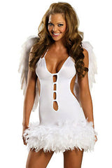 White Flirty Angel Costume