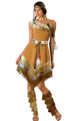 Tan Tribal Queen Costume
