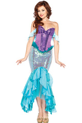 Blue and Purple Mermaid Costume