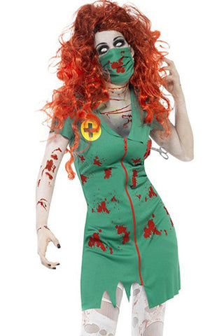 Green Undead Nurse Costume