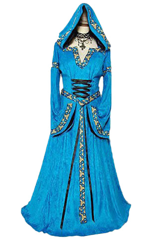 Blue Palace Hooded Princess Costume