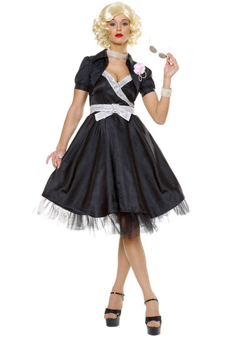 Black Sock Hop Dress Costume