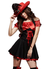 Red and Black Vixen Pirate Costume