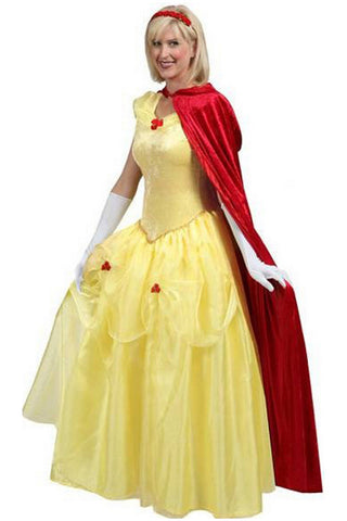 Yellow and Red Belle Inspired Costume