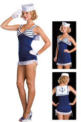 Blue Sultry Sailor Costume