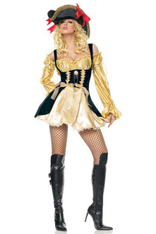 Gold Pirate Captain Costume