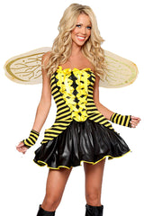 Yellow Laced Up Sunny Bee Costume