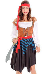Caribbean Pirate Maiden Costume