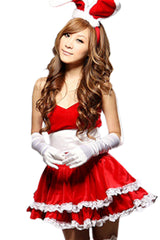 Red Bowed Bunny Costume