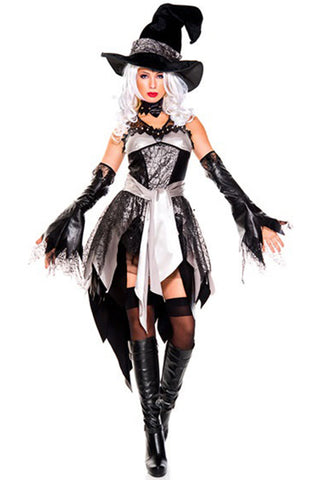 Black and White Midnight Witch Costume