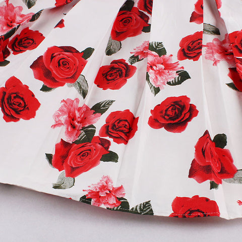 Red Rose Rockabilly Skirt