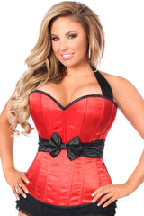 Red Halter Corset w/ Bow
