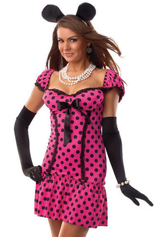 Pink Miss Mouse Costume