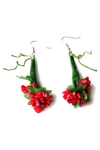 Atomic Vine and Berry Earrings