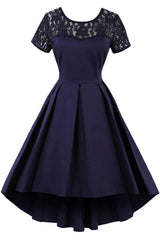 Atomic Dark Indigo Laced Rockabilly Dress