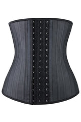 Black Spiral Steel Boned Underbust Waist Training Corset