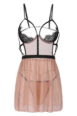 Nude Little Cut Out Babydoll