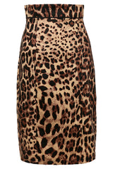 Atomic Leopard Printed Midi Barrel Skirt