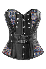 Atomic Tribal Inspired Steampunk Overbust Corset