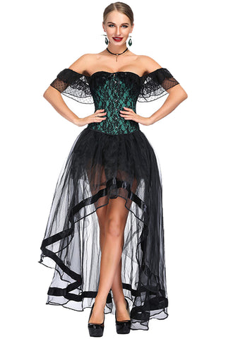 Victorian Off Shoulder Corset & Skirt Set