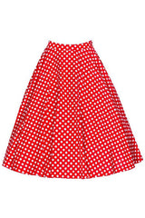 Red Polka Dot Rockabilly Skirt