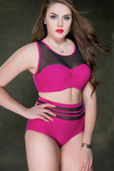 Plus Size Gauze Two Piece Swimwear