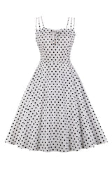 Atomic Polka Dot Summer Swing Dress