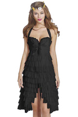 Black Burlesque Ruffles Tutu Corset Dress