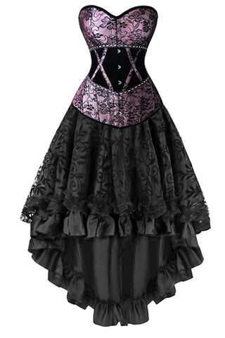 Two Piece Victorian Inspired  Corset and Skirt