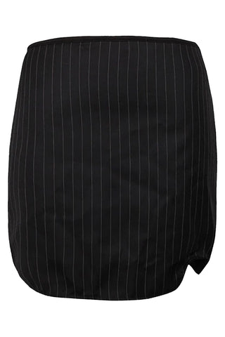 Atomic Black Pinstripe Executive Skirt