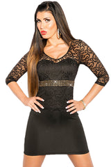 Black Laced Mini Dress