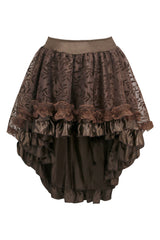 Atomic Brown Lace and Satin Branch Skirt