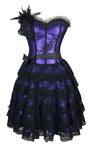 Dark Victorian Rose Corset Dress
