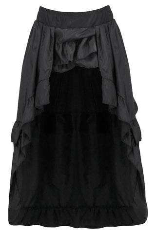 Black Ruffle Asymmetry Skirt